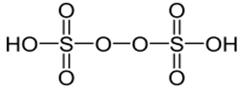 Draw molecular structures of (i) peroxo disulphuric acid