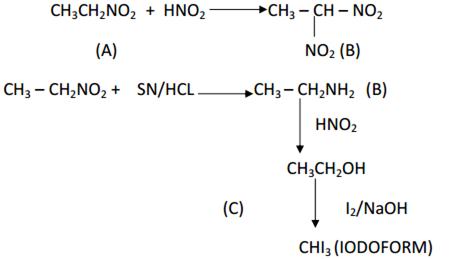 an organic compound a having molecular formula c2h5o2n reacts with
