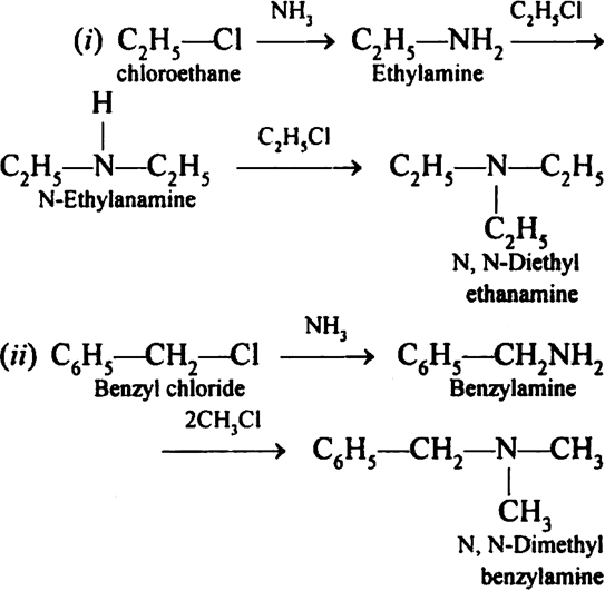 Write chemical equations for the following reactions:(i ... C2h5cl