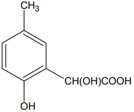 p-cresol reacts with chloroform in the alkaline medium to