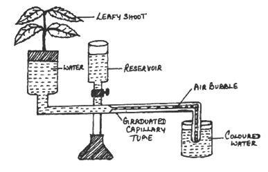 The diagram of an apparatus given below demonstrates a particular