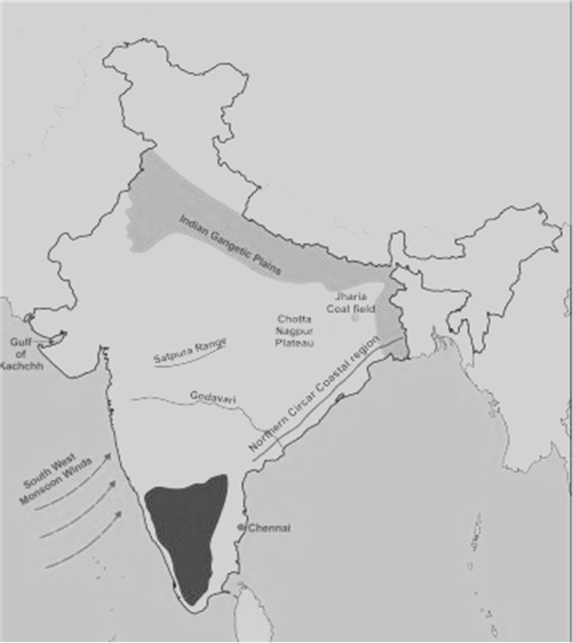 On The Outline Map Of India Provided: (a) Draw, Name From