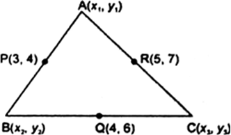 The mid-points of the sides of a triangle are (3, 4), (4, 6