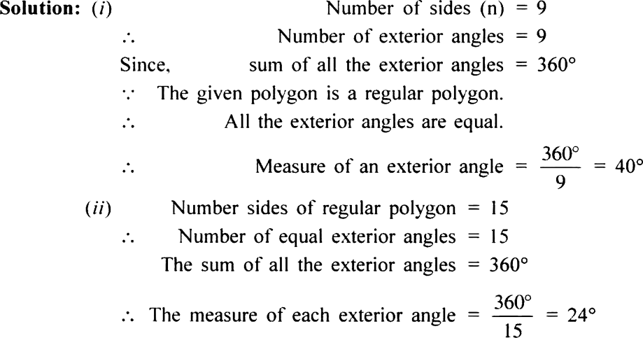 Find the measure of each exterior angle of a regular - Exterior angle of a polygon formula ...