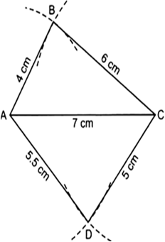 Construct a quadrilateral abcd when ab 4 cm bc 6 cm cd 5 cm thus abcd is the required quadrilateral ccuart Gallery