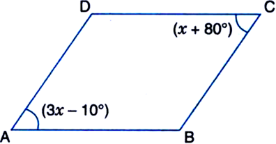 how to solve for x in a parallelogram