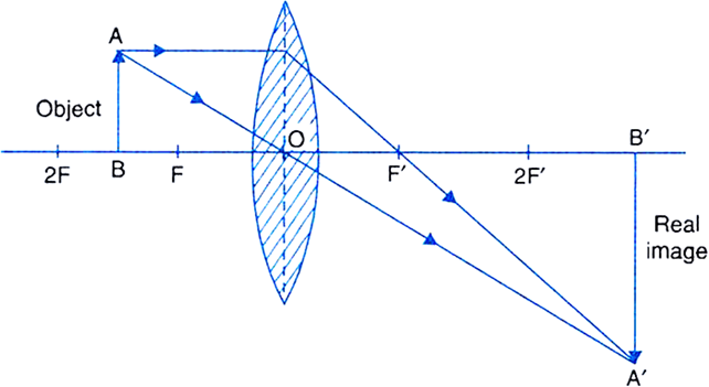 Draw Ray Diagrams To Show The Formation Of A Three Times