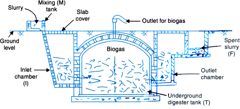 What Are The Main Constituents Of Biogas Describe With A Labelled