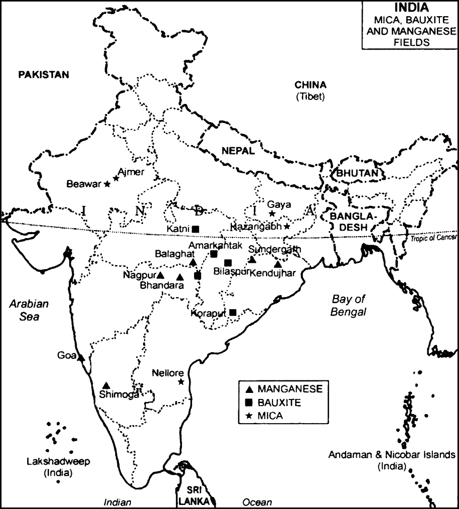 On The Outline Map Of India Locate And Mark With Their Names I - Beawar map