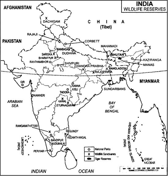 On an outline map of India, show the following:(a) National ... Wildlife Of India Map Images on map of india islands, map of india china, map of india maps, map of india tigers, map of india architecture, map of india politics, map of india cattle, map of india rivers, map of india independence, map of india parks, map of india jungles, map of india range, map of india history, map of india africa, map of india natural resources, map of india landscape, map of india food, map of india waterways, map of india states, map of india sea,