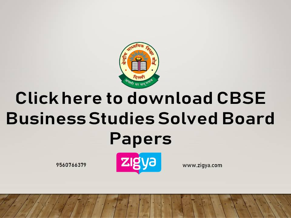 CBSE Business Studies Solved Board Papers