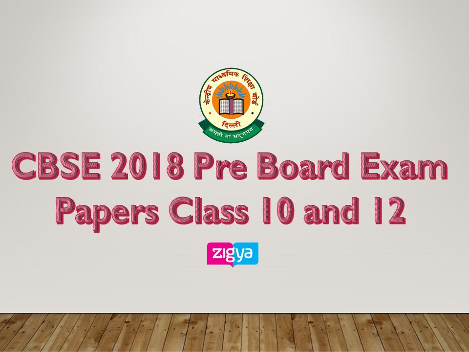 Pre-board Exam