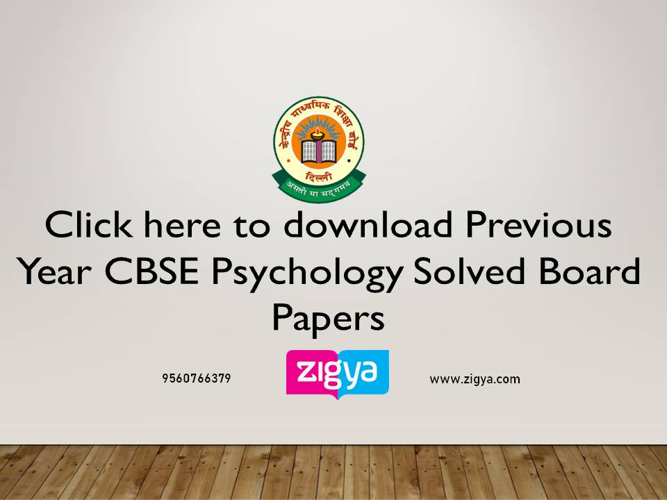 CBSE Psychology Solved Board Papers
