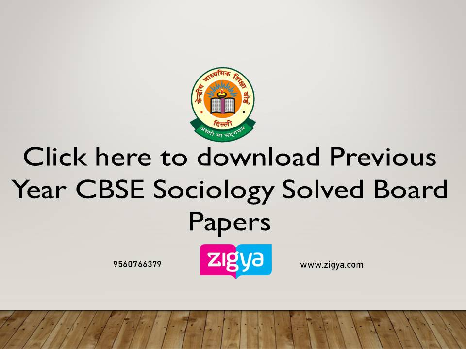 CBSE Sociology Solved Board Papers