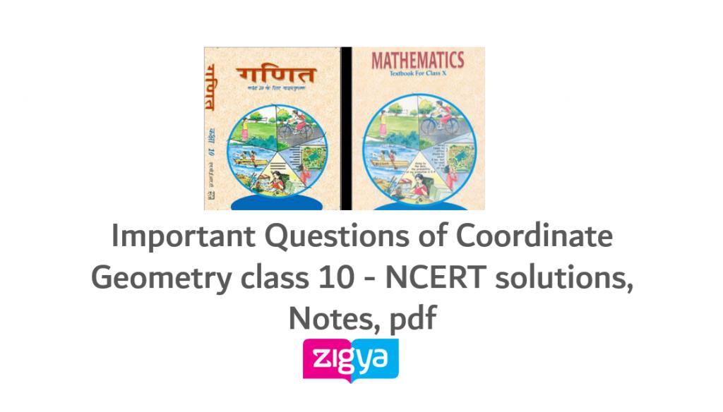 Coordinate Geometry Class 10