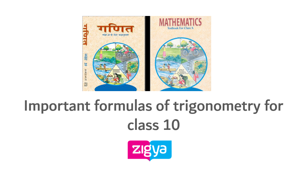 Important formulas of Trigonometric Identities for class 10