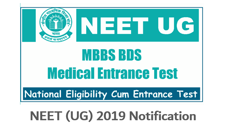 NEET (UG) 2019 Notification