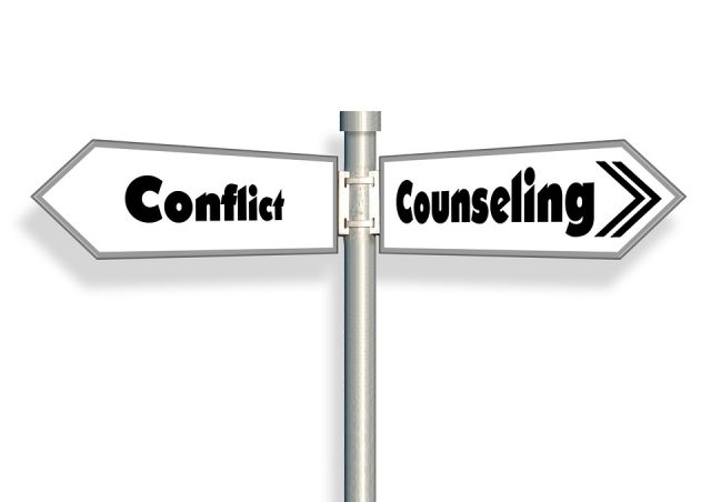 Conflict counselling suggesting conflict resolution methods