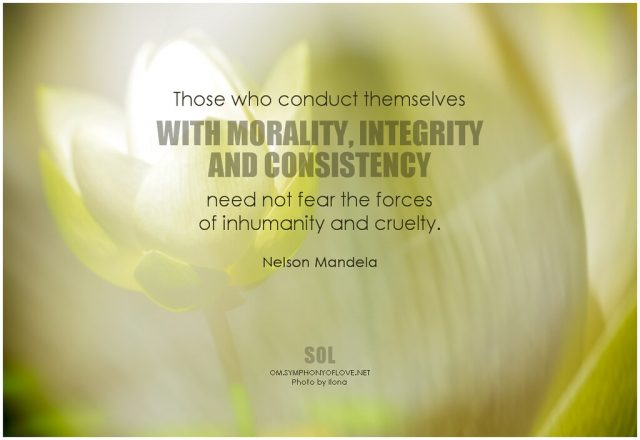 Moral integrity quote by nelson Mandela
