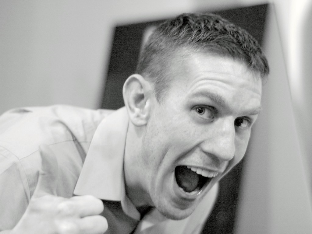 A person is showing enthusiasm in his disposition about work