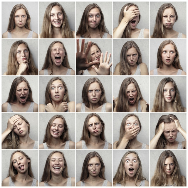 The image shows different emotions that one needs to practice emotional management strategies